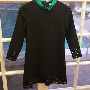 Black sleek shift dress